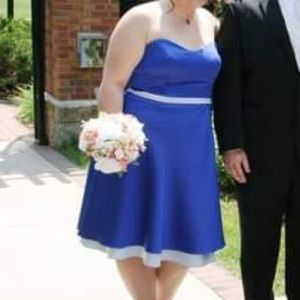 Royal Blue Alfred Angelo Strapless Dress
